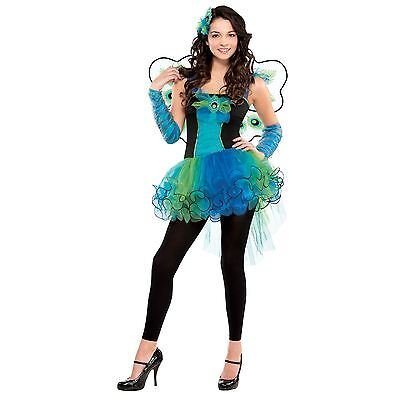 Teenager Mädchen Fairtyale Karneval Pfau Kostüm Monster Ever after Halloween (Mädchen Pfau Halloween Kostüme)