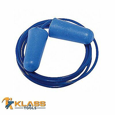 Blue Disposable Earplugs With Blue Cord Ear Plugs Packs Of 25 To 1000 Pairs