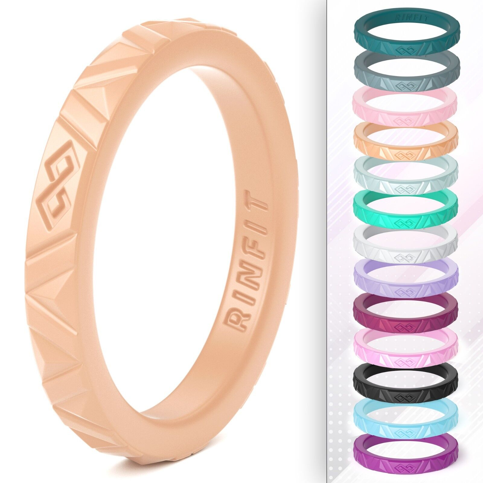 Stackable Silicone Wedding Ring | Band for Women by Rinfit -