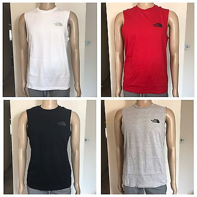 NWT THE NORTH FACE Men's Sleeveless Tee Shirt Grey Black White Red S M L XL XXL