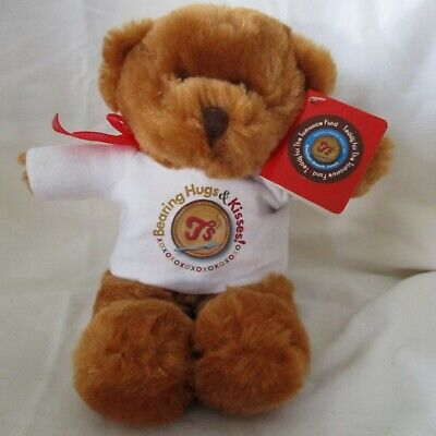 Teddy For The Tomorrow Fund Bearing Hugs & Kisses Bear](Stuffed Animals For Valentine's Day)