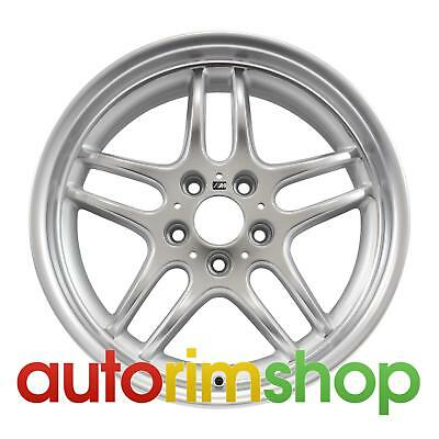 """BMW 740i 18"""" Factory OEM Front Wheel Rim Machined with Silver Style 37"""