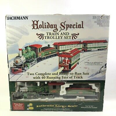 Bachmann Holiday Special Train And Trolly Set Christmas