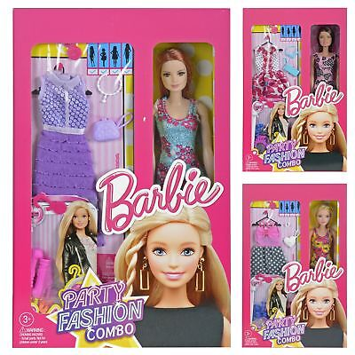 Barbie Party Fashion Combo Doll With Outfits Shoes Accessories - Assorted Styles
