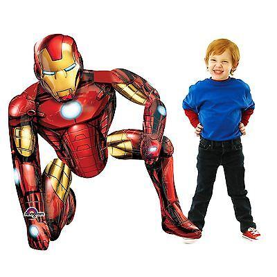 Iron Man Dekorationen (117cm Iron Man Superheld Airwalker Party Ballon Marvel Avengers Dekoration Bn)