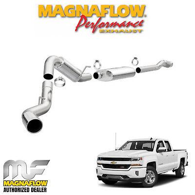 """Magnaflow 4"""" Cat Back Exhaust 2014-2019 Chevy Silverado 1500 6.2L Crew 5.7"""