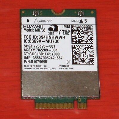 HP UMTS Modul Huawei MU736 723895-001 G820 WWAN HSDAP+ G3 G850 Z17 650 840 450