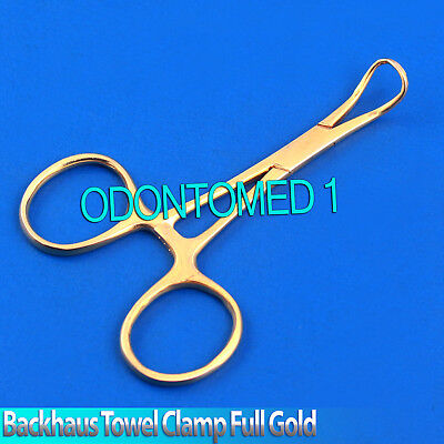 Backhaus Towel Clamp 3.5 Full Gold Surgical Instruments