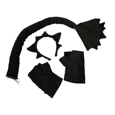 Toothless Dragon Halloween Costume (Black Dragon Trainer Toothless Halloween Costume Headband Gloves Tail)