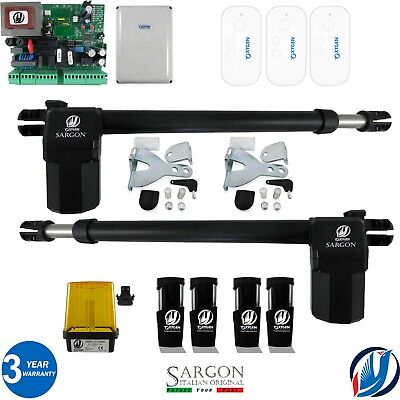 SARGON M Kit swing gate automation 3 Fob 230V 220V max leaf 3,5mt MADE IN ITALY