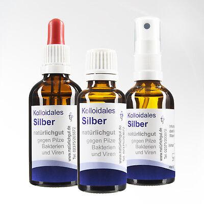 Silberwasser kolloidales Silber Spray täglich frisch natürlichgut seit 2006 ()