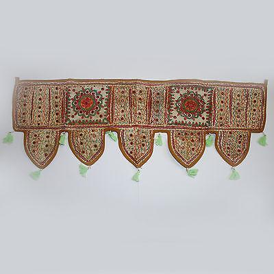 Patchwork-Türbehang TORAN/THORANG KÜRBIS-BEIGE Indien Wandbehang Bollywood Z