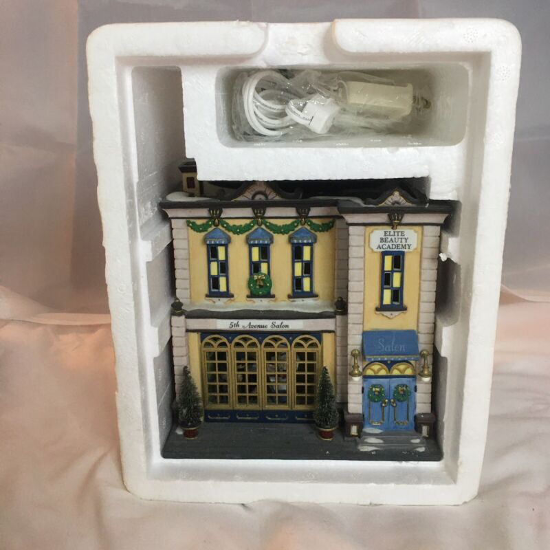 Department 56 5th Avenue Salon Christmas Village Building Open Box- Not Used