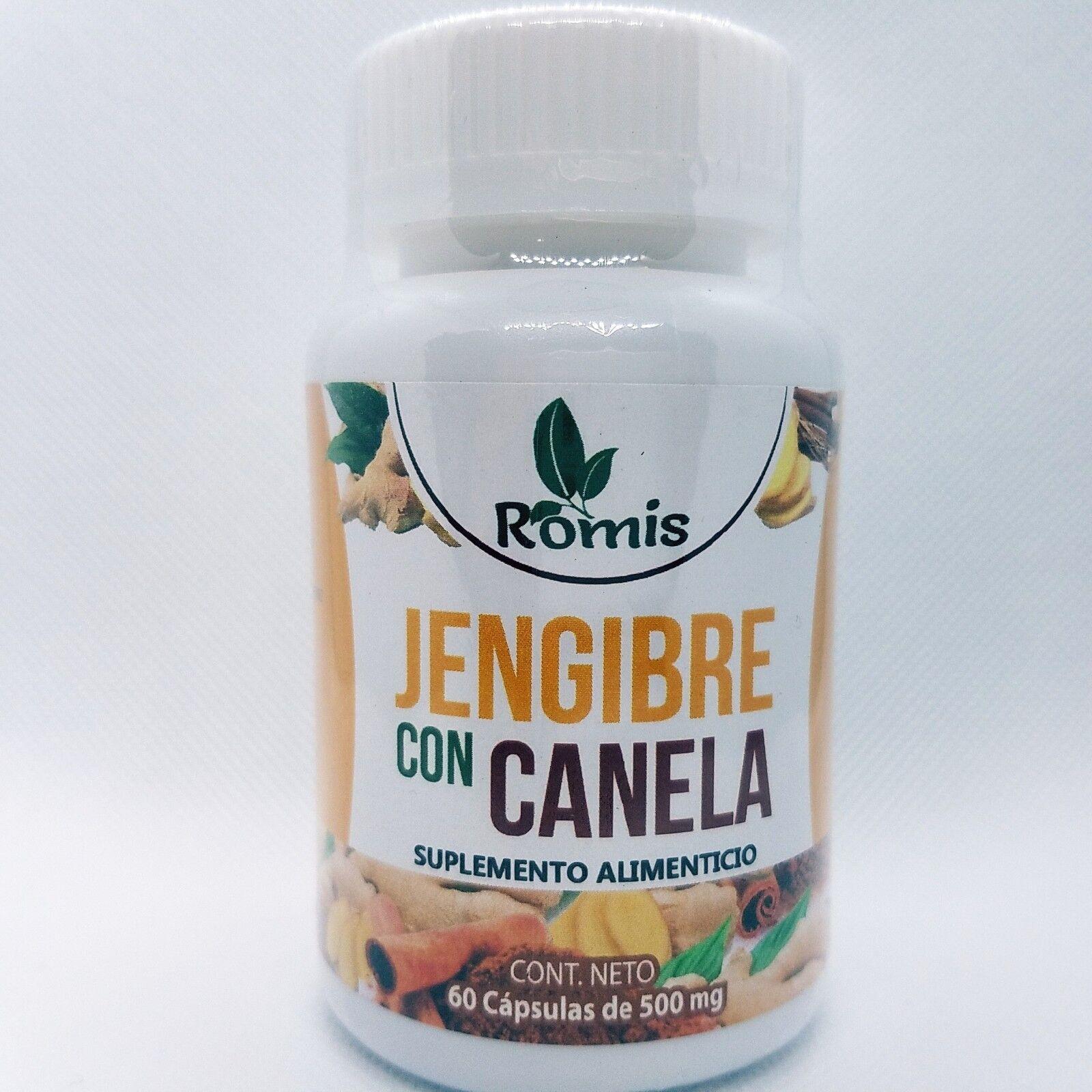 JENGIBRE & CANELA 60 CAPS 100% ORIGINAL WEIGHT LOSS GINGER BAJA PESO QUEMA GRASA