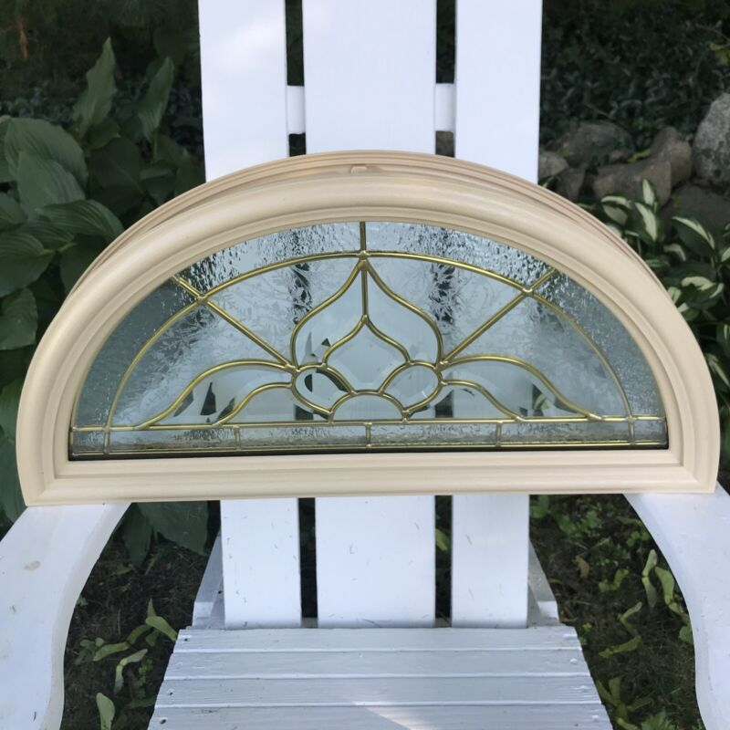 Architectural Arched Half Round Framed Glass Window