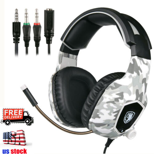 SADES SA-818 Gaming Headset for PS4 Xbox One PC Stereo Surround Headphone w/Mic