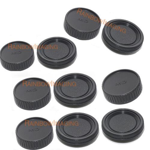 "(5 Packs) Minolta MD MC Rokkor Lens Rear Caps Cover + Camera Body Cap ""Us Seller"