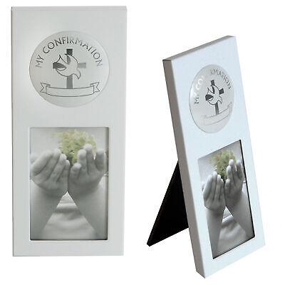 Blanco Marco de Fotos Aluminio - Contiene 5.1x7.6cm Imagen - Mi Confirmación