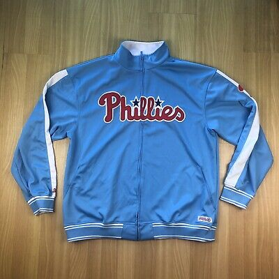NEW STITCHES Philadelphia Phillies Full Zip Hoodie Polyester Embroidered Mens XL Embroidered Full Zip Hoodie