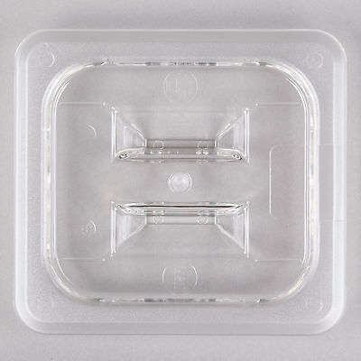 10 PACK 1/6 Size PAN LID Clear Plastic Steam Prep Table Food Polycarbonate Cover