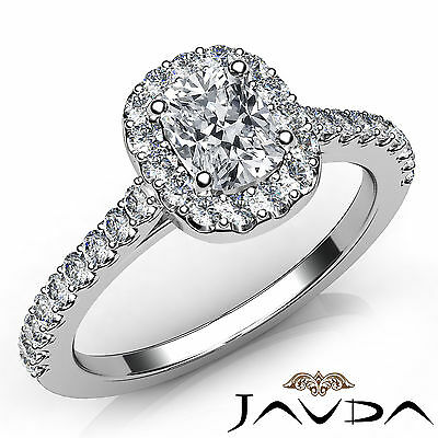 Cushion Diamond Share Prong Set Engagement Ring Gia F Vs2 18K White Gold 1 06Ct