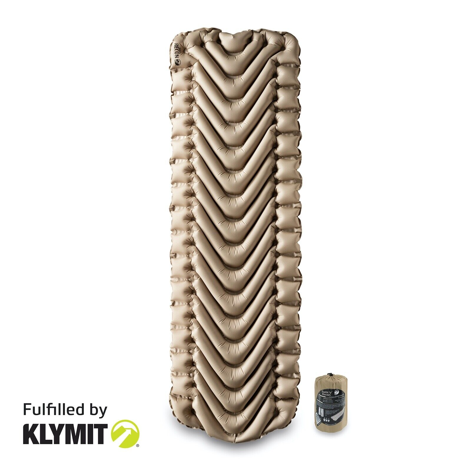 Klymit Static V Recon Lightweight Sleeping Camping Pad - Fac