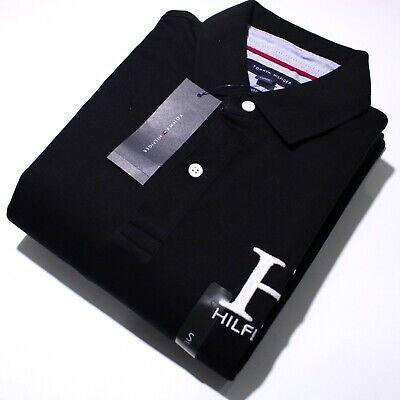 Men's Tommy Hilfiger Short Sleeve Black H Logo Print Polo Shirt | NWT