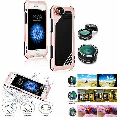 Aluminum Shockproof Dustproof Metal Case Cover Camera Lens for iPhone X 8 7 6 XR - Metal Case Camera