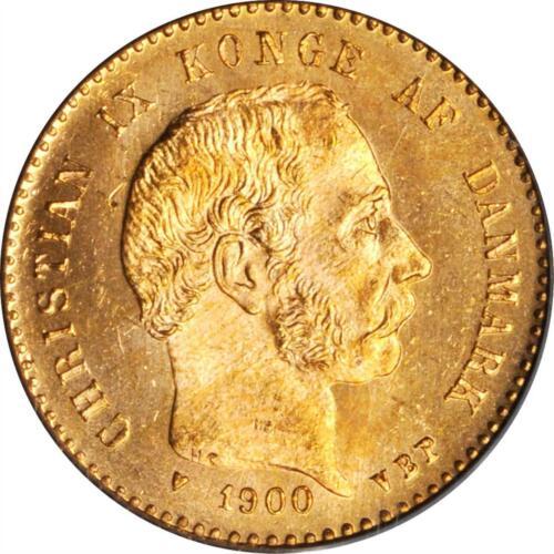 1900 HC-VBP DENMARK CHRISTIAN IX GOLD 10 KRONER PCGS GEM MS-66
