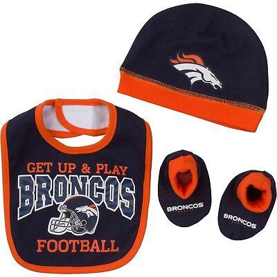 Denver Broncos Baby Lätzchen Hut & Booties Set,NFL - Baby Fußball Hut