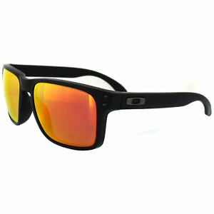 c6d5f00b8ab Oakley Holbrook Matte Black Ruby Iridium Men s Polarized Sunglasses ...