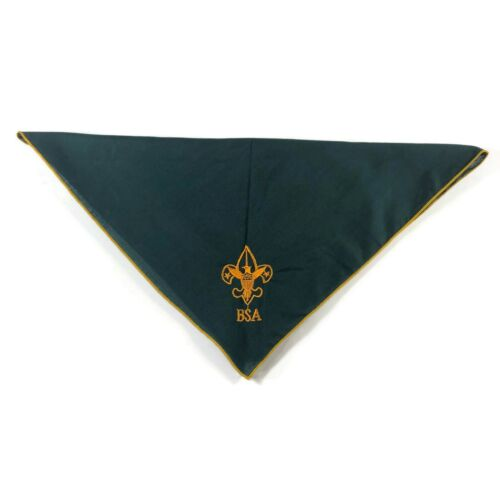 Boy Scouts of America BSA green gold embroidered Eagle Scout triangle neck scarf