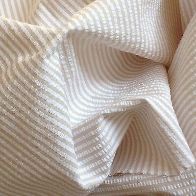 100% Cotton Seersucker Stripe Pink/White, Blue/White, Khaki/White. High Quality