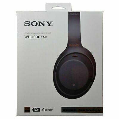 SONY WH-1000XM3 Wireless Noise-Canceling Headphones BLACK Wo