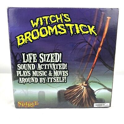 RARE Spirit Halloween 2008 Witch's Broomstick w/ Box DISCONTINUED - SEE VIDEO!!