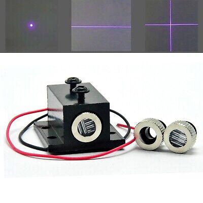 405nm 10mw Dot Line Cross Focusable Laser Module Violetblue Diode W Heatsink