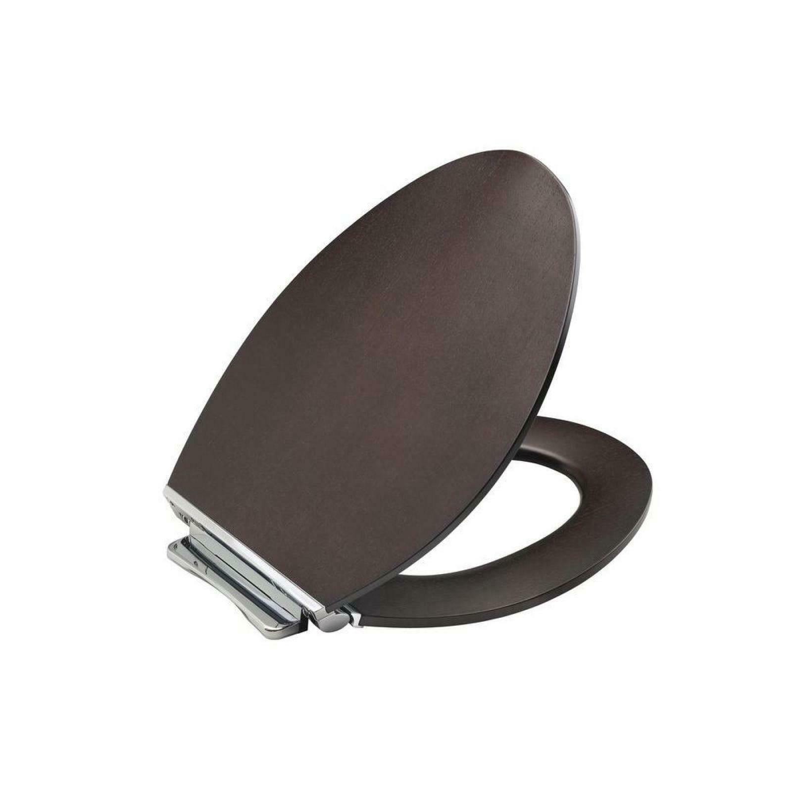 Brilliant Details About Kohler Elongated Toilet Seat Contoured Quiet Close Lid Metal Hinge Wood Brown Inzonedesignstudio Interior Chair Design Inzonedesignstudiocom