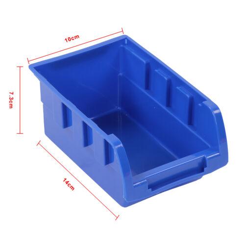 30 x plastic bins wall mounted storage garage tools small parts organizer rack ebay. Black Bedroom Furniture Sets. Home Design Ideas