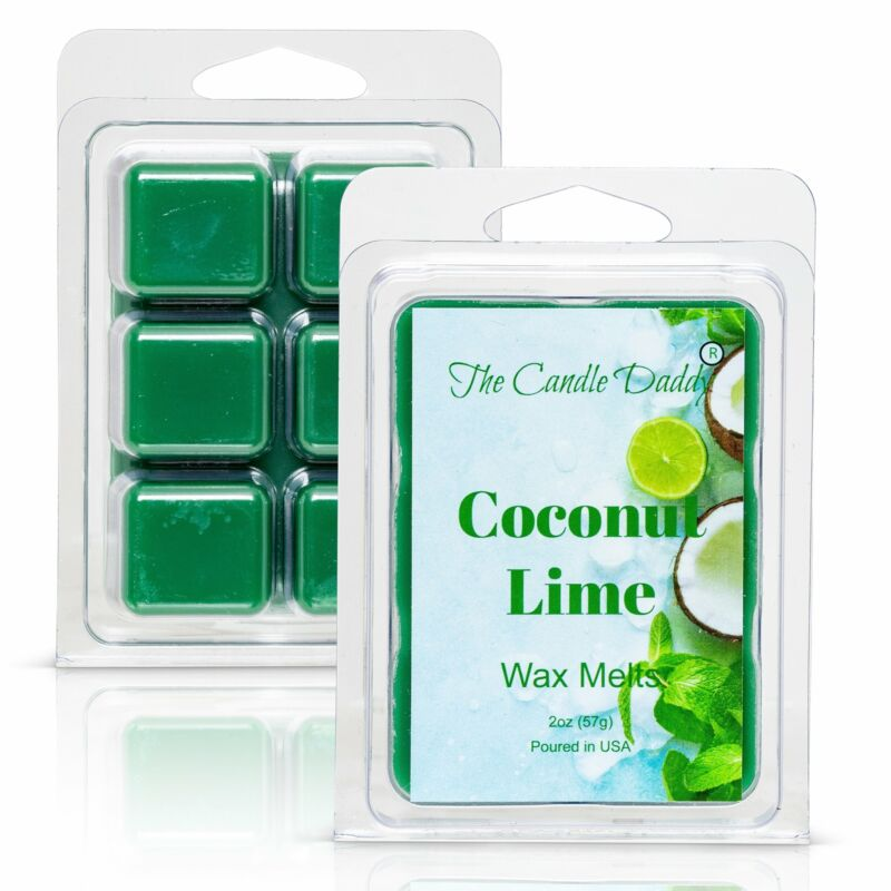 Coconut Lime - Amazing Combination of Citrus and Tropical Scented Melt- Maximum