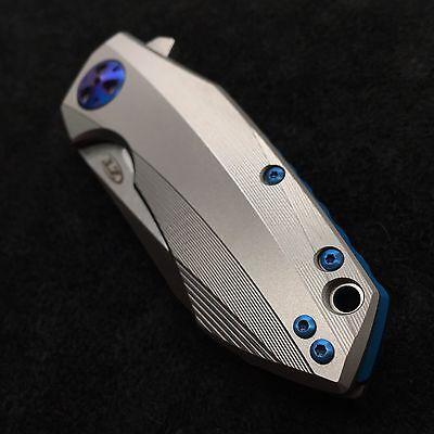 Blue Titanium [>Screw Set<]  for Zero Tolerance 0456 Folder  ZT0456  (NO (Blue Titanium)