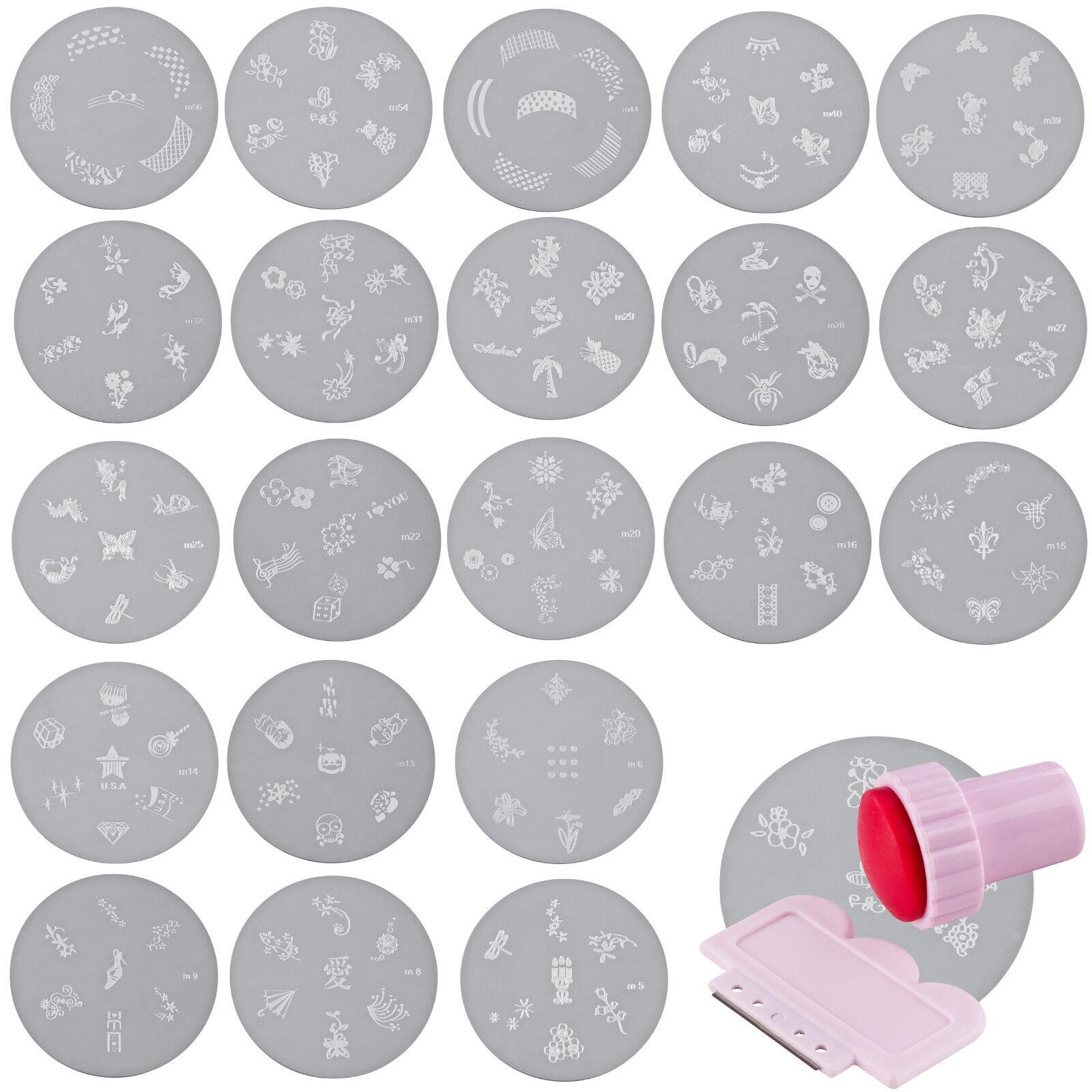 Schablone für Nagelstempel Nailstamping Metall Platte Nagel Stempel Stamping