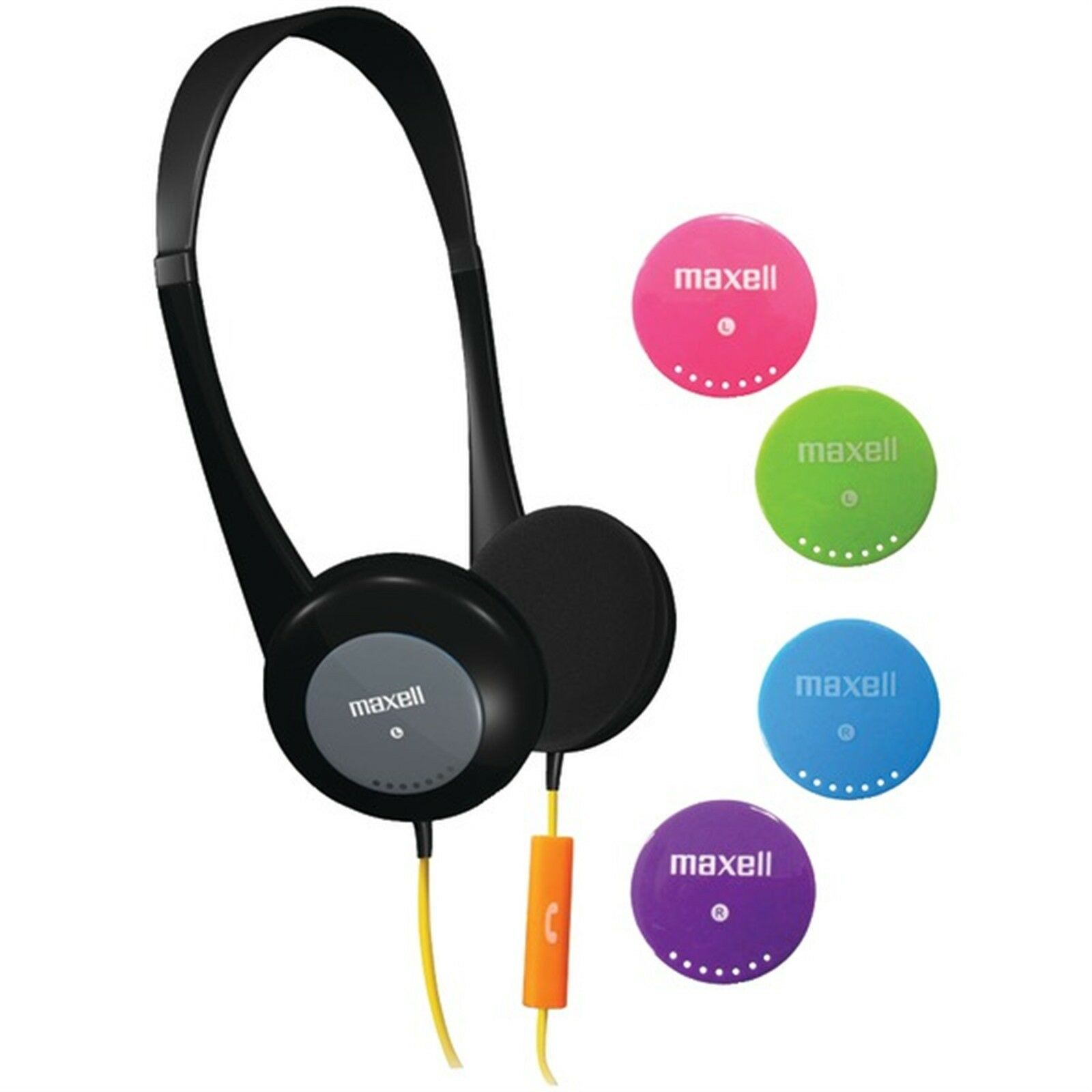 MAXELL Action Kids Headphones with Microphone, Controlled vo