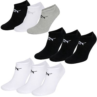 Puma Sneaker Trainer Sport Gym Socks Plain Cotton Blend 3 Pairs UK 2.5/5 or 6/8
