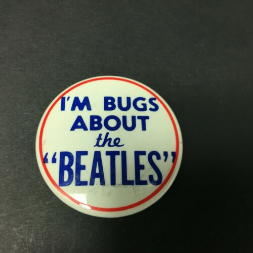 """The Beatles Vintage 1965  I'm Bugs About The Beatles Pin Button 2.0"""""""
