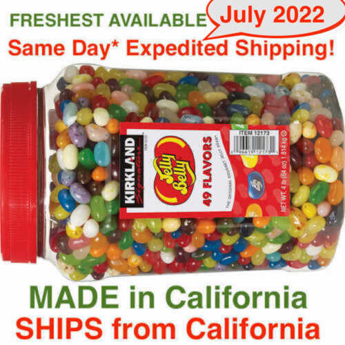 Kirkland Signature Jelly Belly Jelly Beans 49 Gourmet Flavors 4 pounds ( 64 oz)
