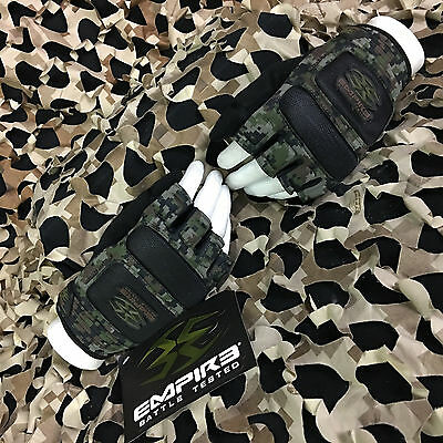 NEW Empire Battle Tested BT Combat Paintball Gloves - Woodland Digi - X-Large