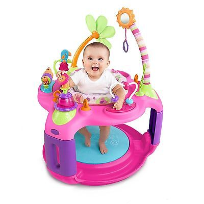 BRIGHT STARTS BOUNCER ACTIVITY CENTER SWEET PINK SAFARI Baby Toddler Girl Toy