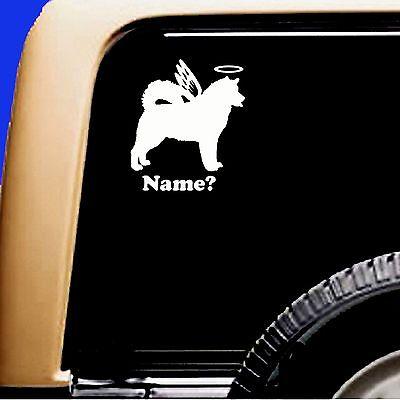 Dog Memorial Siberian Husky Angel Decal Vinyl Car Sticker Malamute Original  - CA$6.00