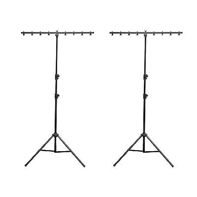 2) Chauvet DJ CH-06 Portable Lightweight Easy Setup T Bar Tripod Light Stands
