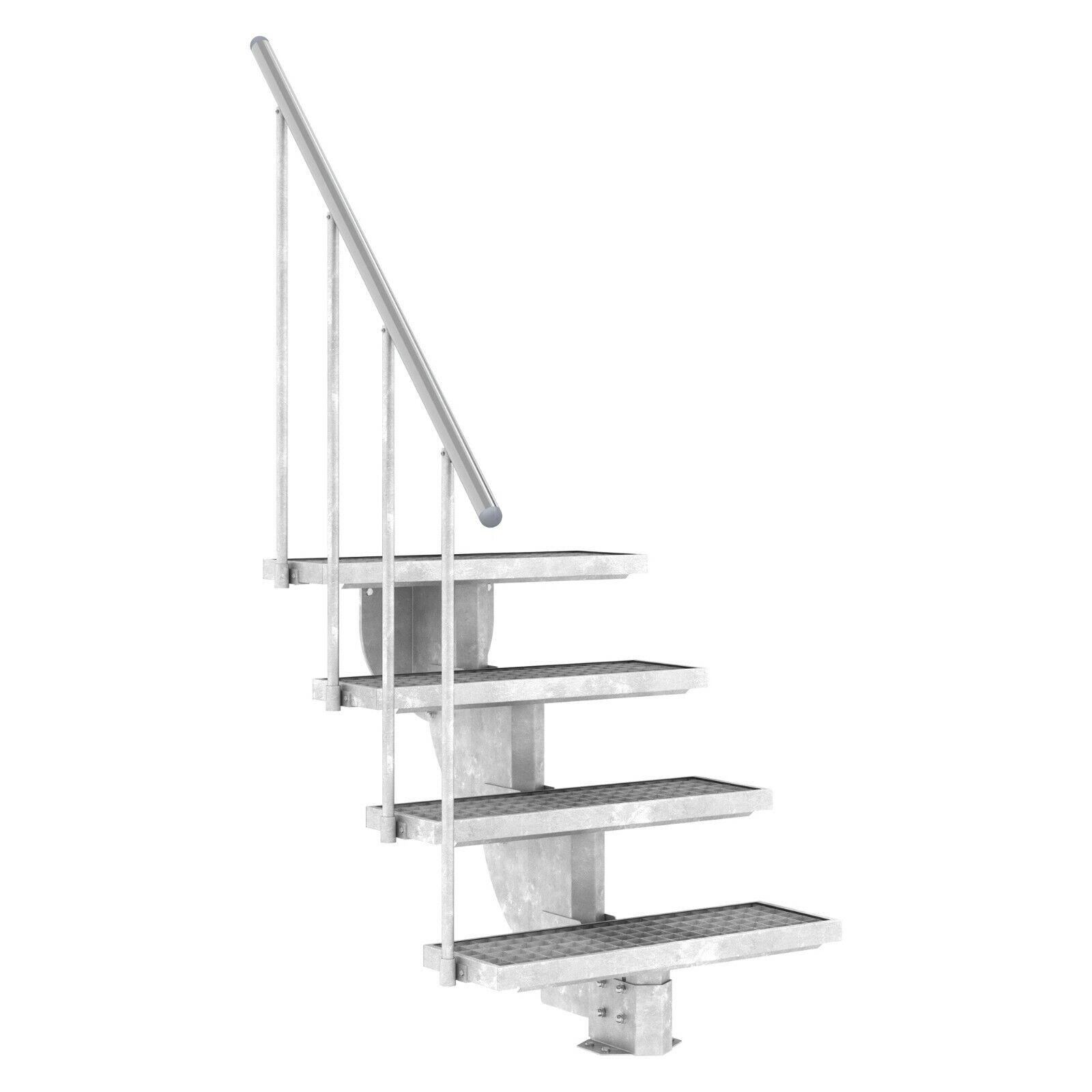 DOLLE Außentreppe Gardenstep m. Gitterroststufen | 2 - 12 Stufen | Gartentreppe